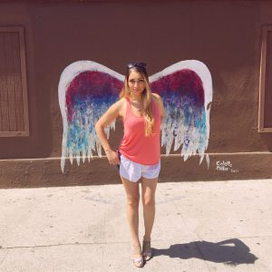 Colette Miller angel wings wall