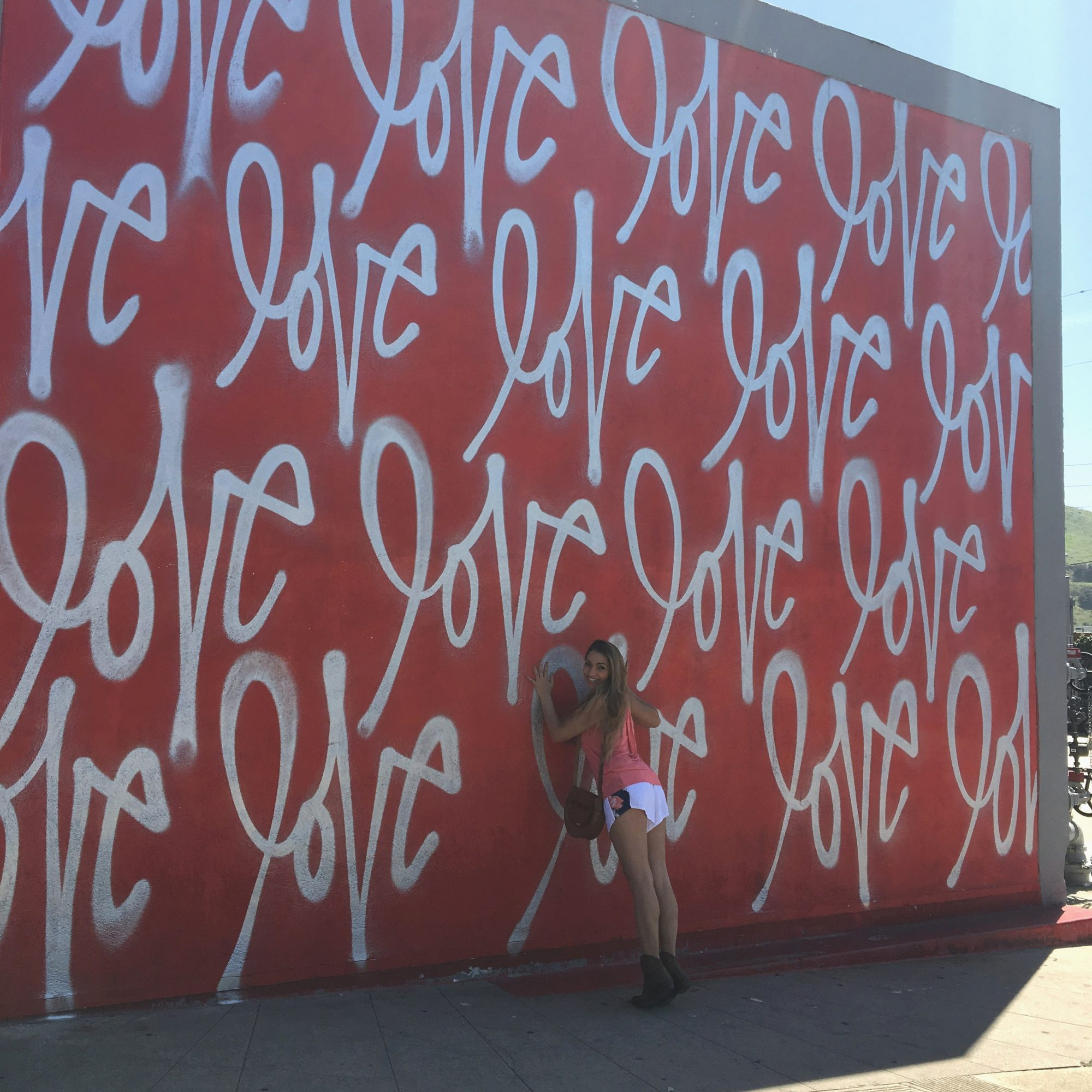 Red love wall